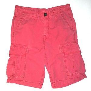 True Religion Men's Red Cargo  Shorts Size 28